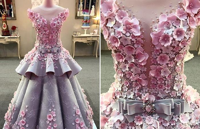 Надеть или съесть: Создан изумительный торт, копирующий платье от кутюр.