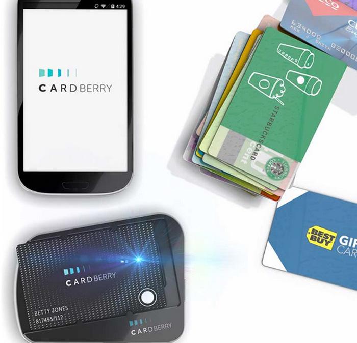 Cardberry - один удобный гаджет размером с пластиковую карту, вместо сотни обычных дисконтных карт
