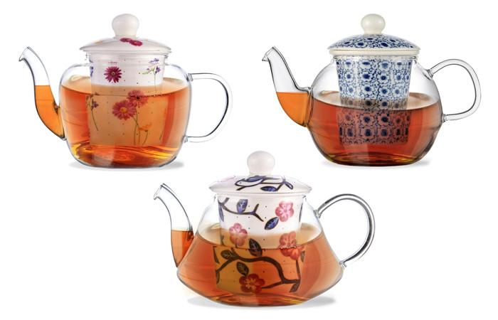 Заварочный чайник CASABLANCA с керамическим фильтром и крышкой.