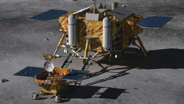 Китайский исследовательский аппарат Чанъэ-3 с луноходом