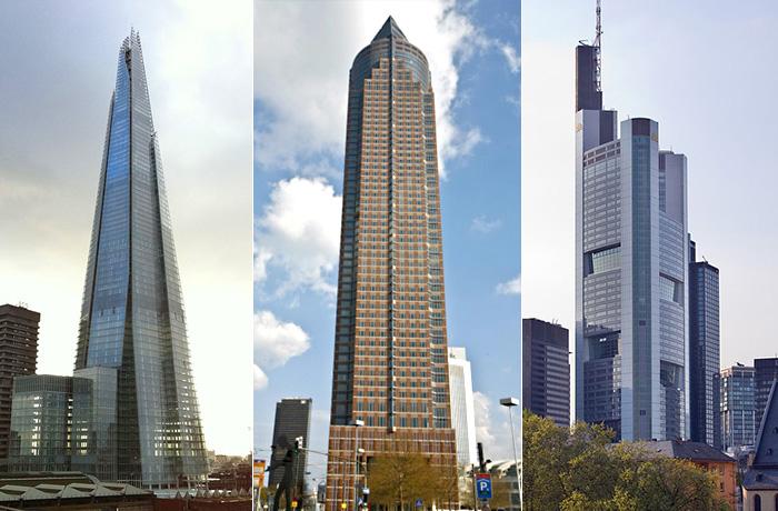 10 самых высоких зданий в Европе