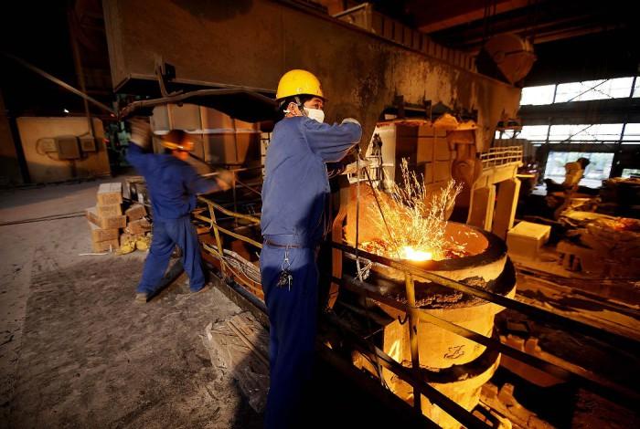 Металлургическое производство в деревне Хуаси