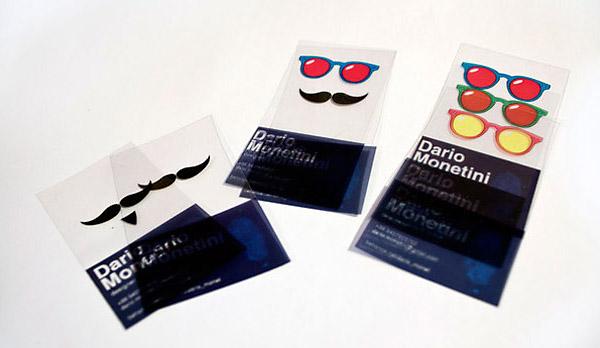 Визитная карточка дизайнера - стильно, весело, прозрачно.