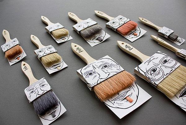 Усатые кисти. Дизайн Simon Laliberte.
