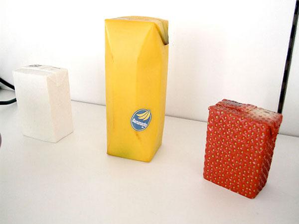 Упаковка для соков. Дизайн Naoto Fukasawa.