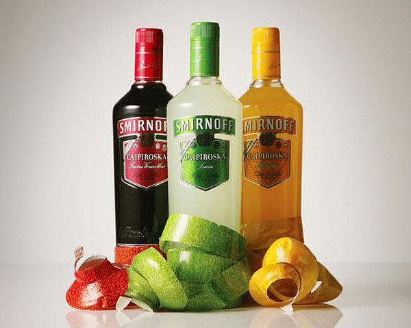 Водка Smirnoff Caipiroska. Дизайн JWT.