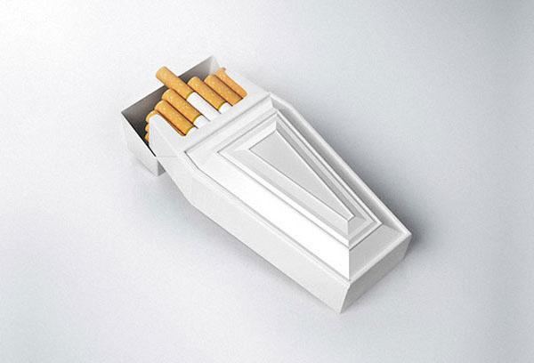 Коробка для сигарет в виде гроба. Авторы Reynolds и Reyner.