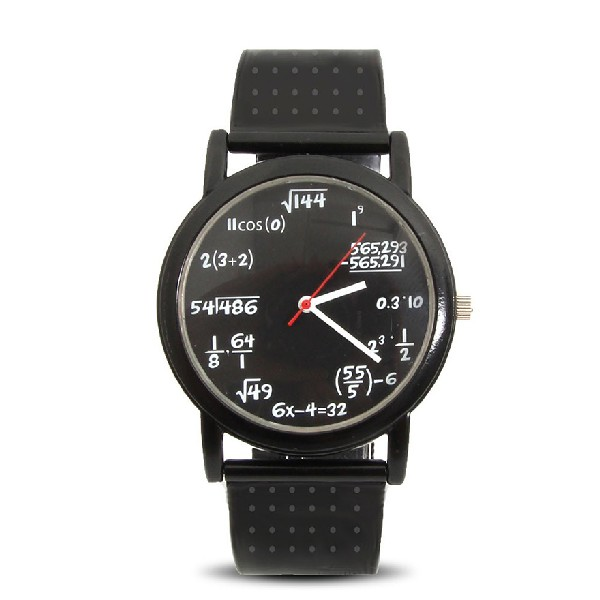 Часы для любителя математики