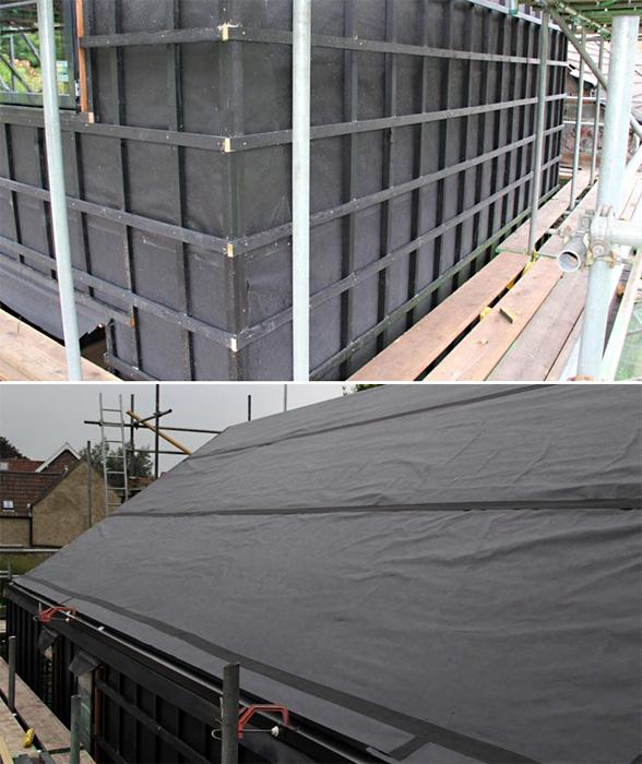 Фасад с открытыми стыками, выполненный из туи по проекту компании Point1 Building Systems для нового скромного и экологичного здания в Бристоле,<br>использует «обертку» из надежных и стойких современных дышащих мембран DuPont.