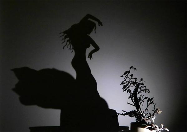 Игра теней в танце фламенко.