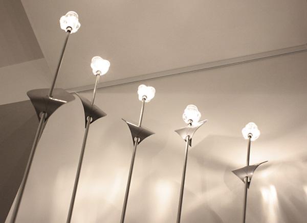 Лампа-цветок дизайнера Юрия Цегла