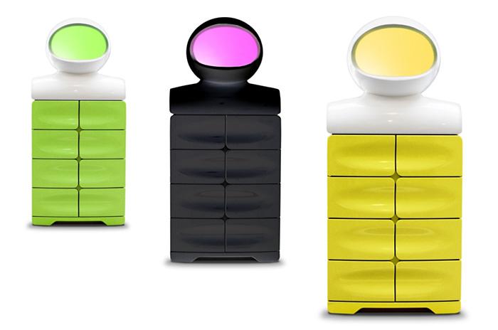Система хранения Gagarin из DuPont™ Corian® в нескольких цветовых вариациях, разработана дизайнерами Сергеем Шашмуриным и Алексеем Быковым (OpenDesignBrend), выполнена компанией EXPROMT. Фото принадлежат OpenDesignBrend.