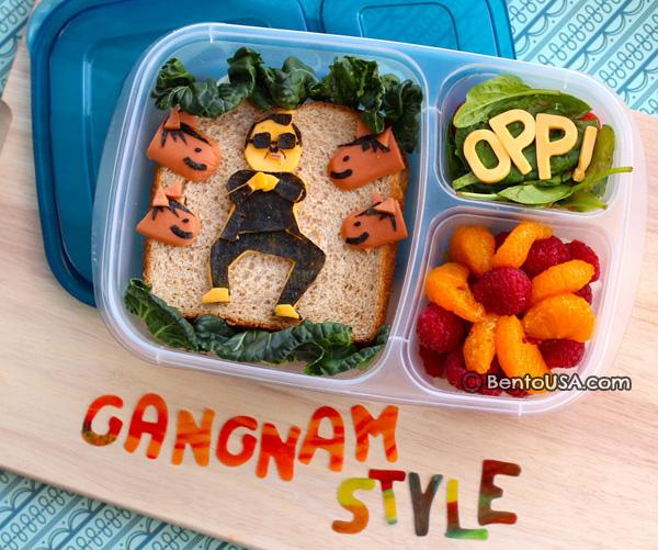 Ланч-бокс с Gagnam Style сэндвичем