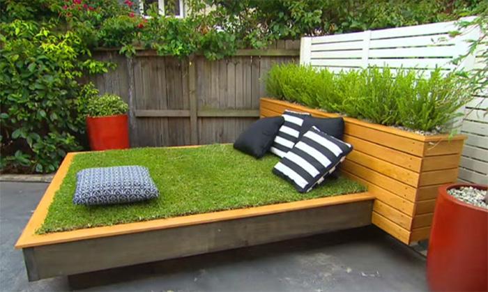 Травяная кровать-газон.