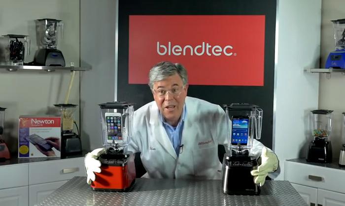 Эпическое видео противостояние  iPhone 6 Plus и Samsung Galaxy Note в работающем блендере