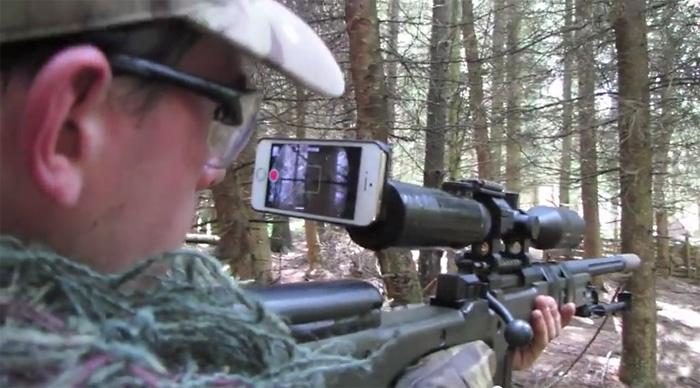 iPhone в помощь снайперу.