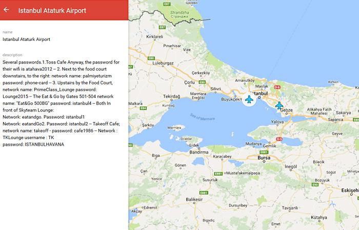 Пароль от Wi-Fi в стамбульском аэропорту Ататюрк.