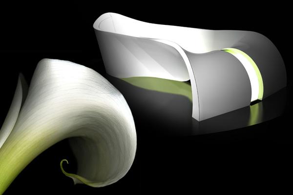 Ванная 'Калла' - гармония цветка, воплощенная в жизнь.