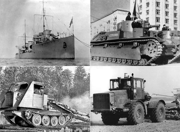Знаковые модели техники, выпускавшейся на «Кировском заводе» в XX веке