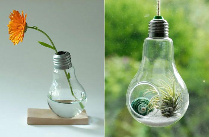 13 оригинальных идей, как превратить старую лампочку в произведение искусства