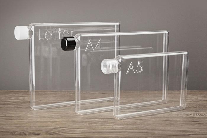 Memobottle - плоская бутылка для воды, которую удобно носить в сумке