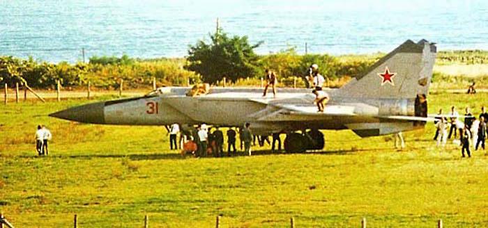 Cамолёт МиГ-25, угнанный летчиком Беленко.