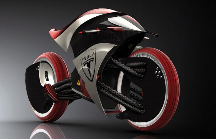 Концепт экологичного спортивного мотоцикла Tesla E-Max