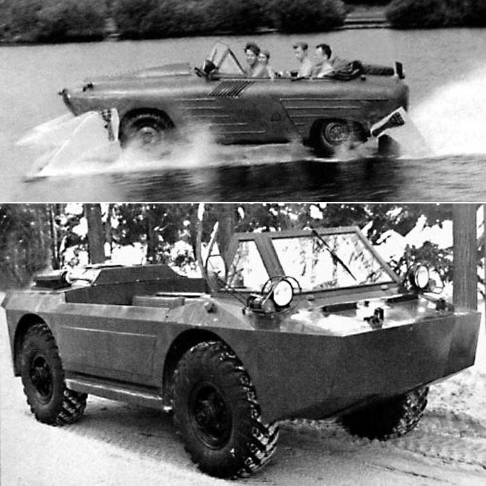 Автомобиль-амфибия НАМИ-055В.