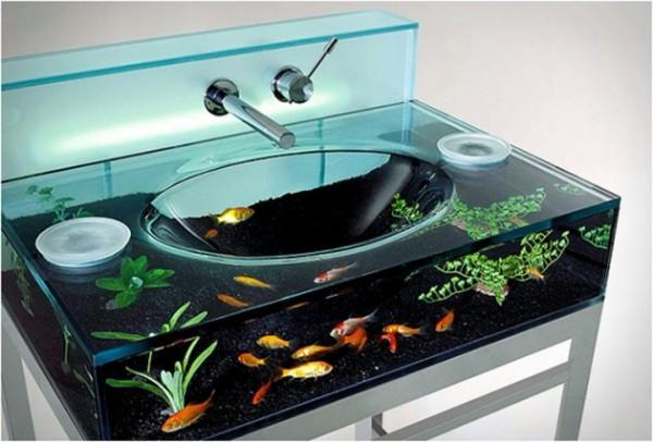 Раковина - аквариум