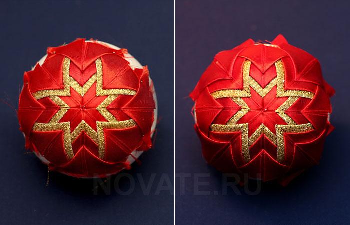Делаем потрясающий шарик для новогодней ёлки своими руками