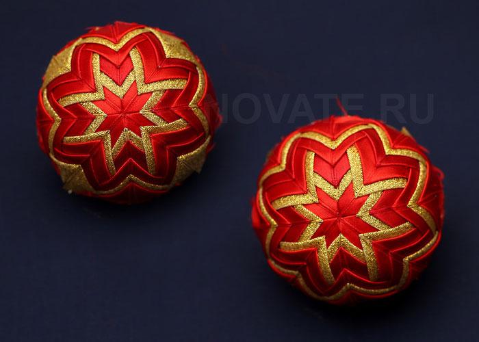 Делаем потрясающий шарик для новогодней ёлки своими руками.