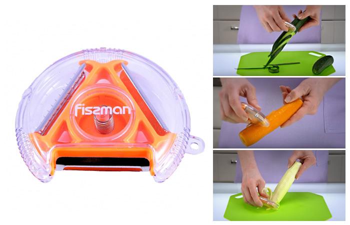 Компактный нож для чистки овощей.