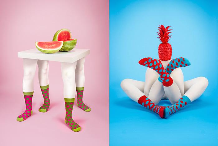 Писк моды: яркая реклама непарных носков