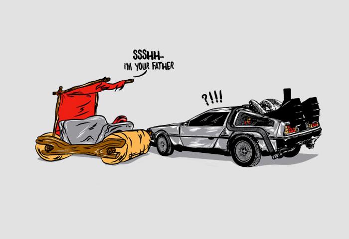 Неожиданная встреча звездных автомобилей