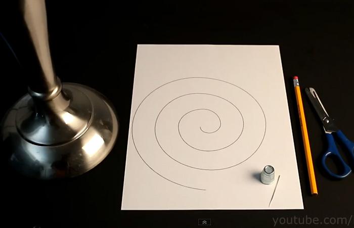 Видео-инструкция: Вечно вращающаяся спираль из бумаги