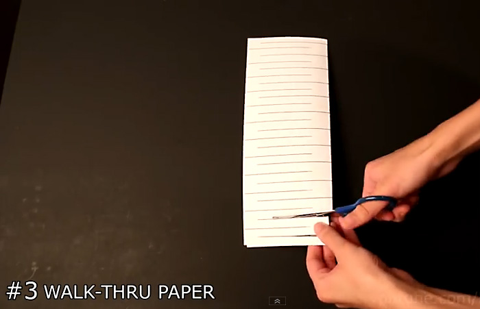 Видео-инструкция: Как пройти через лист бумаги