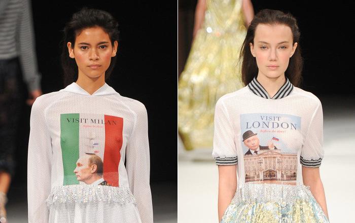 Изображения Путина взорвали Неделю моды в Париже