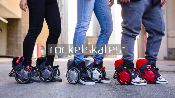 RocketSkates – электрические ролики для повседневного использования.