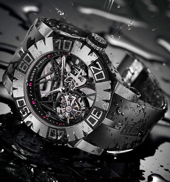 Водонепроницаемые наручные часы Roger Dubuis Easy Diver SED Tourbillon