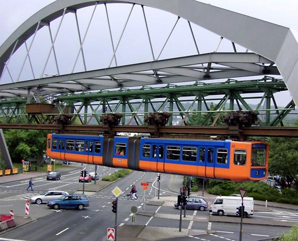 Подвесной монорельс Schwebebahn в Германии