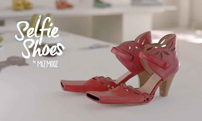 Туфли для селфи, позволяют делать продвинутые селфи с помощью ноги