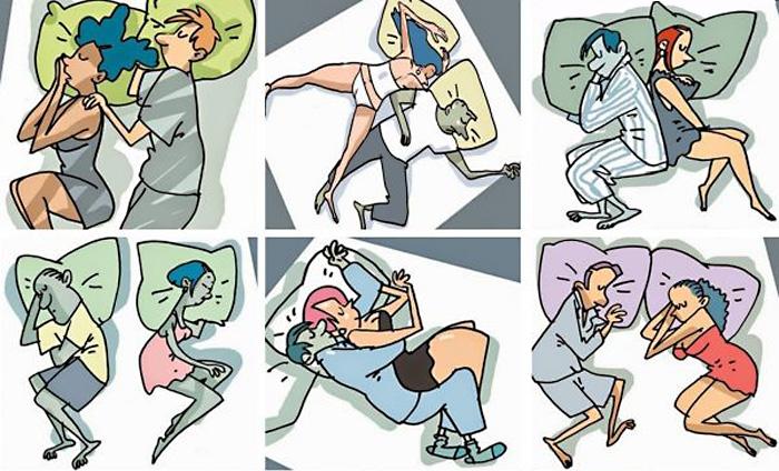 Позы пар во время сна в картинках