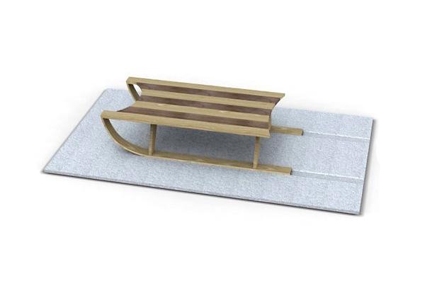 Ненастоящие санки-столик для оригинального интерьера от Duffy London