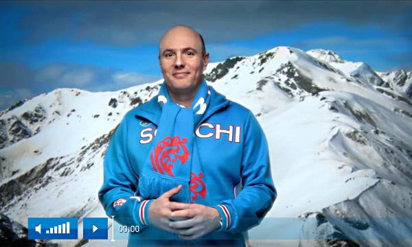 Новогоднее поздравление организационного комитета зимних олимпийских игр в Сочи-2014