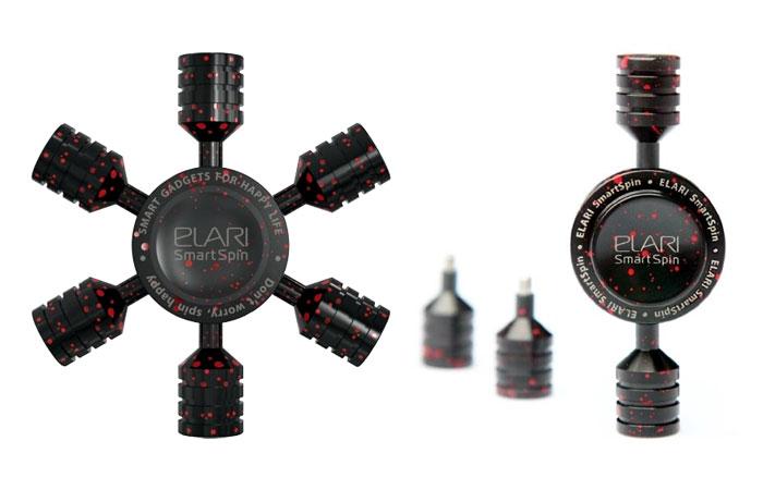 Утяжелители спиннера Elari SmartSpin Model X легко скручиваются.