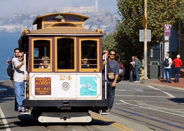 Винтажный трамвай из Сан-Франциско, США