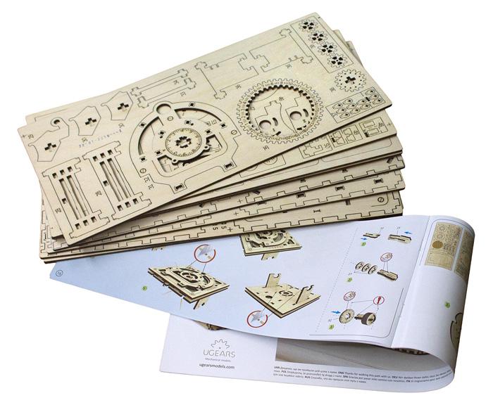 Конструктор Ugears - набор высокоточных деревянных 3D-пазлов.