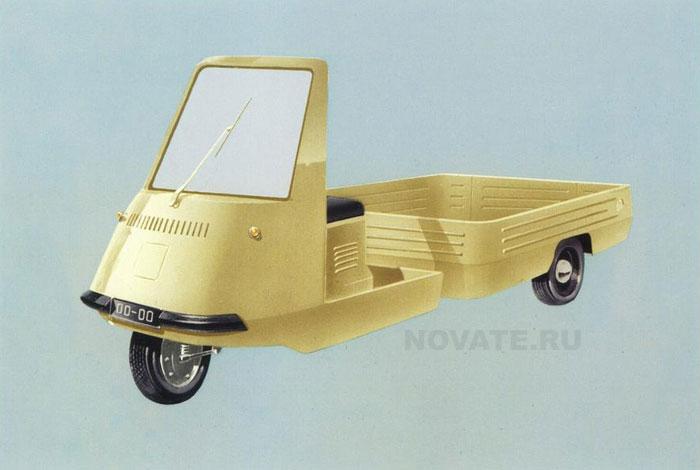 1965: Грузовой мотороллер «Муравей».