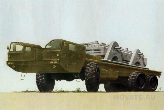 1970: Пусковая установка для оперативно-тактической ракеты.