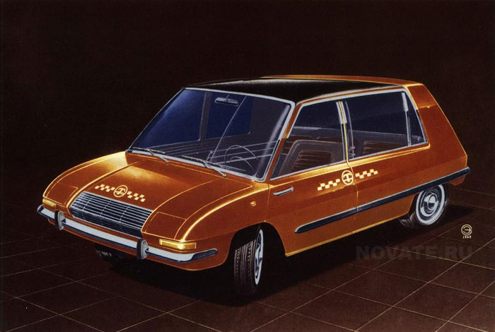 1973: Спецтакси на переднем приводе.